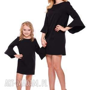 f75f4b0ece mama i córka sukienka z falbaną przy rękawie dla córki ld3 4
