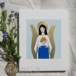 handmade prezent pod choinkę anioł stróż dla chłopca komunia święta
