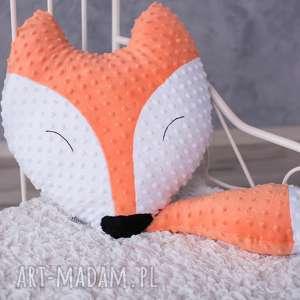 ręcznie robione maskotki poduszka dziecięca lisek