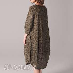 hand-made sukienki sukienka ze zlota nitką ostatnia
