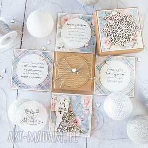 eksplodujące pudełko ślubne dla młodej pary pamiątka ślubu personalizacja