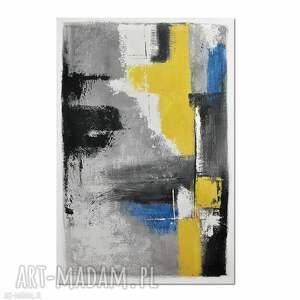 uno, abstrakcja, nowoczesny obraz ręcznie malowany