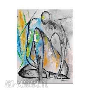 marceau, nowoczesny obraz ręcznie malowany, obraz, postać, abstrakcja, autorski