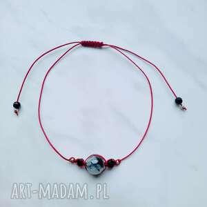 ręcznie zrobione bransoletka ochronna kwarc z czarnym turmalinem i onyksem