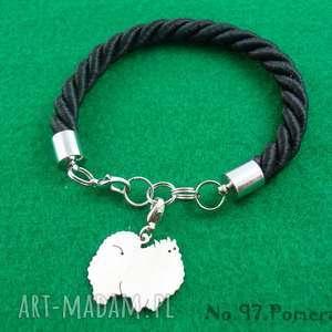 handmade bransoletki bransoletka szpic miniaturowy pomeranian pies nr. 97