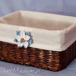 bukiet-pasji prostokątny koszyk eko koszyczek z kwiatuszkiem - przechowywanie