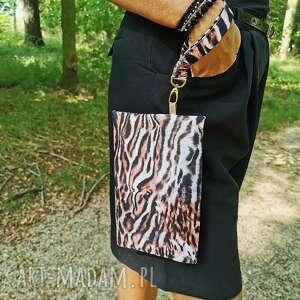 mini maleńka torebeczka - tygryski, torebeczka, kosmetyczka, wodoodporna