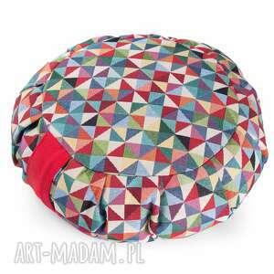 poduszka do medytacji zafu tworky - z gryką / żakardowa, joga, pufa