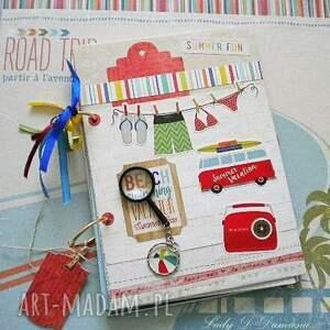 Notatnik/pamiętnik /Notatki z podroży, wakacje, podróże, travel, notatnik, plaża