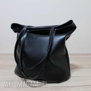 na ramię worek hobo - czarny, elegancka, nowoczesna, pakowna, prezent, święta