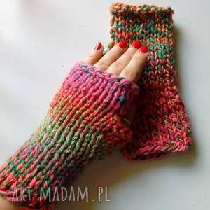 rękawiczki kolorowe wełniane mitenki, rękawiczki, wełniane, kolorowe, mitenki