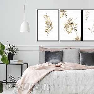 obraz w ramie liść 4r - 84x40cm na płótnie kwiaty, obrazy liście