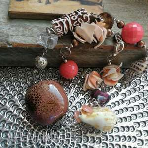 ręcznie wykonane naszyjniki naszyjnik ceramika koraliki duzy