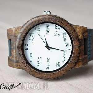 handmade zegarki drewniany zegarek mathematics hawk