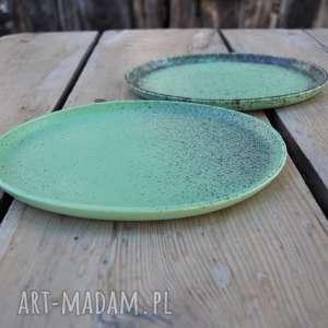 handmade ceramika talerze ceramiczne matowe - zestaw dla dwojga