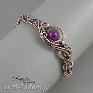 handmade bransoletki asymetria - bransoletka z agatem
