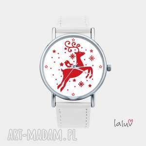 zegarki zegarek z grafiką renifer, rudolf, grafika, prezent, świąteczny, stylowy