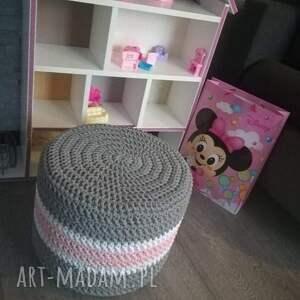 puf dla dziewczynki ze sznurka bawełnianego 40cmx30cm, dziecka, pufa