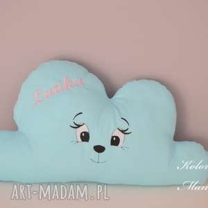 kolorowamanufaktura poduszka chmurka z imieniem, poduszka, dedykacja, churka, prezent