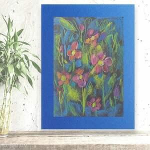 kolorowy rysunek z kwiatami, kwiaty rysunek, łąka rysunek, łąka obrazek