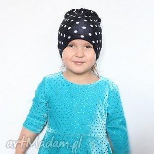 czapka dziecięca bawełniana, czapki, kropki, wiosna, dziecko, prezent, groszki