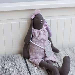 Prezent Królisia Klara brązowa, tilda, lalka, maskotka, przytulanka, dziewczynka