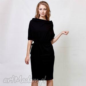 ręcznie zrobione sukienki kim | sukienka z dzianiny bawełnianej