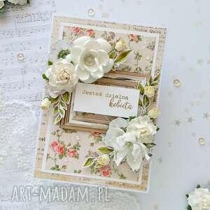 scrapbooking kartki kartka z pozytywnym hasłem - kobieta, dla kobiety