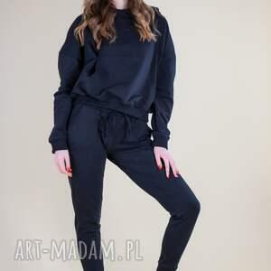 hand-made sportowe dres, komplet damski czarny, bluza i spodnie