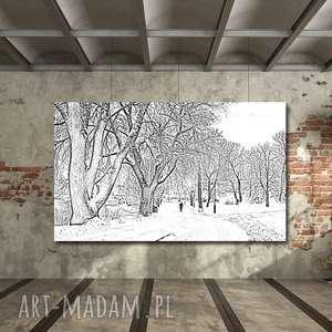 obraz ALEJKA 3 - 120x70cm na płótnie loft modern, obraz, loft, alejka, drzewa