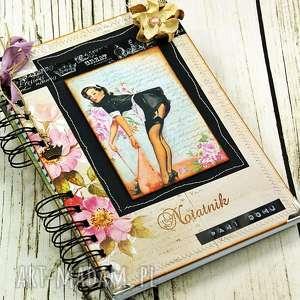 scrapbooking notesy notatnik pani domu retro n2, notes, notatnik, zapiśnik