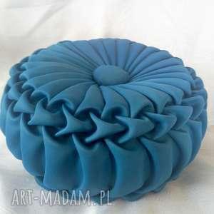 Poduszka koło hand made niebieska, koło, poduszka, szyta
