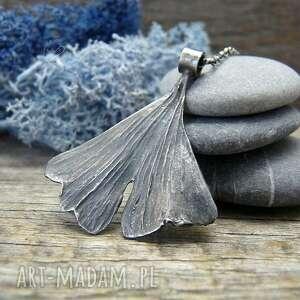 Ginkgo necklace naszyjniki radecka art srebrny naszyjnik, natura