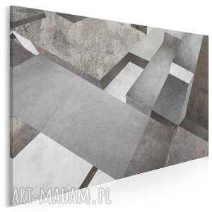 obraz na płótnie - beton bloki szary nowoczesny 120x80 cm (95701)