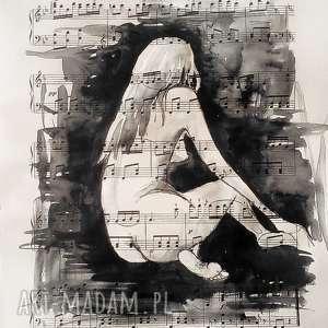 jestem muzyką 2 akwarela artystki plastyka adriany laube, akwarela, akt