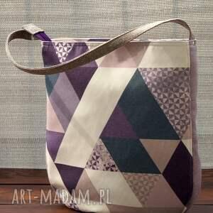geometryczna torba na ramię, torba, codzienna, miejska, pojemna, polski produkt