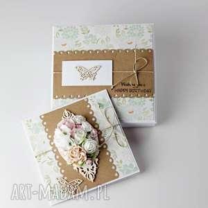 handmade scrapbooking kartki kartka w pudełku - z okazji urodzin