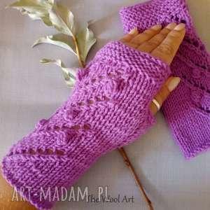 Prezent rękawiczki mitenki, rękawiczki, wełniane, ocieplacze, na-drutach