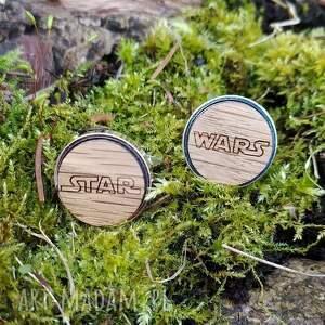 drewniane spinki do mankietów star wars, spinki, gwiezdne wojny