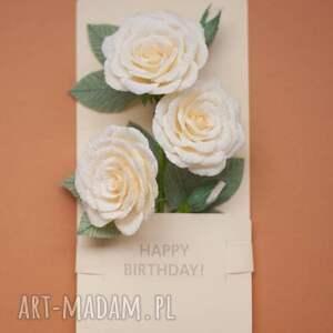 Prezent Pudełko Papier kwiaty. , urodziny mamy,