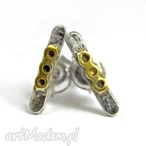 zgustem mini sztyfty, srebrne, 925, minimalistyczne, drobne, złocone