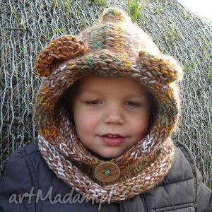 niedźwiedź, jesień, zima, czapka, komin, dziecko, prezent dla dziecka
