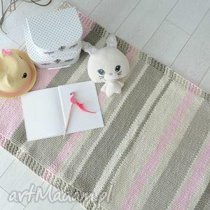 Chodnik w pastelowych kolorach w4design dywan, różowy,