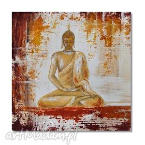 budda, nowoczesny obraz ręcznie malowany, obraz, orientalny, ręcznie, malowany