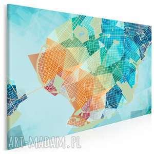 obraz na płótnie - kształty siatka 120x80 cm (44201)