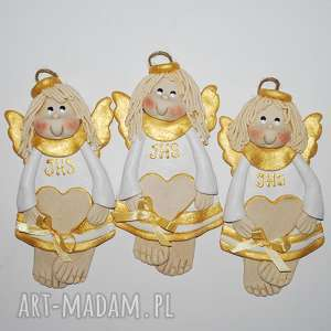 pamiątki pani ewy - aniołki, anioły, dekoracja, prezent, komunia, święta, z masy