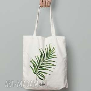 torba bawełniana z liściem palmy, torba, bawełniana, ekologiczna, eko, zakupy
