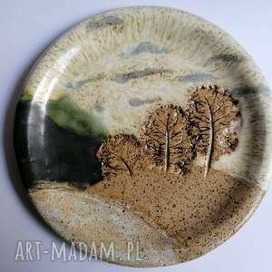 ceramika pejzaż romantyczny, dekoracja wnętrza, stołu