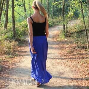 spódnice długa zwiewna spódnica typu boho chaber, spódnica, długa, boho, wiskoza