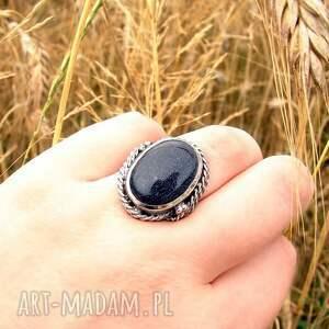 srebrny pierścionek z nocą kairu, kairu, noc biżuteria